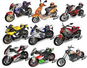 Motorbikes pack 3D motocross