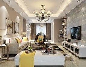 Living room luxury 3D model