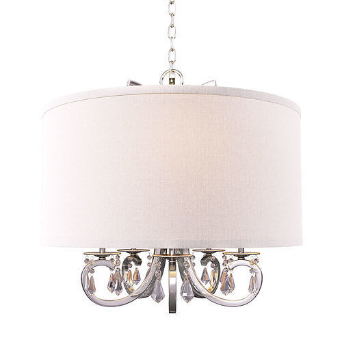 home decorators collection 5-light polished nickel chandelier 3d model max obj mtl 1