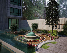 park Garden landscape 3d model