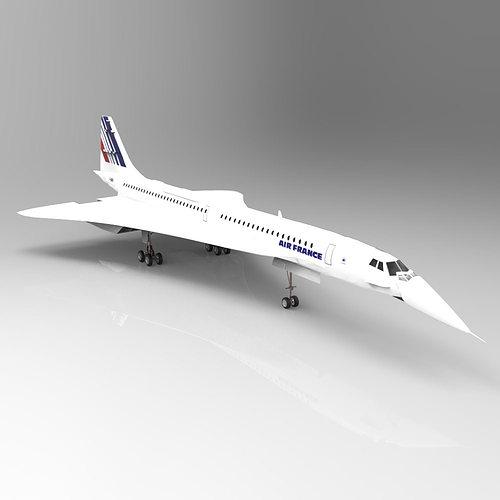 Concorde Studio Max 3d Model Cgtrader