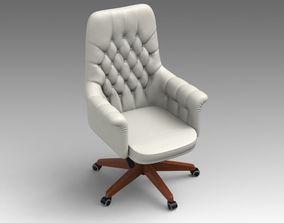 3D model Leather Swivel Chair 18