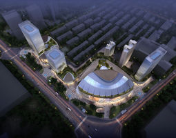city shopping mall 113 3d