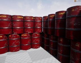 3D model PBR Oil Barrel