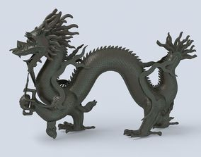 3D Chinese Dragon Sculpture 1