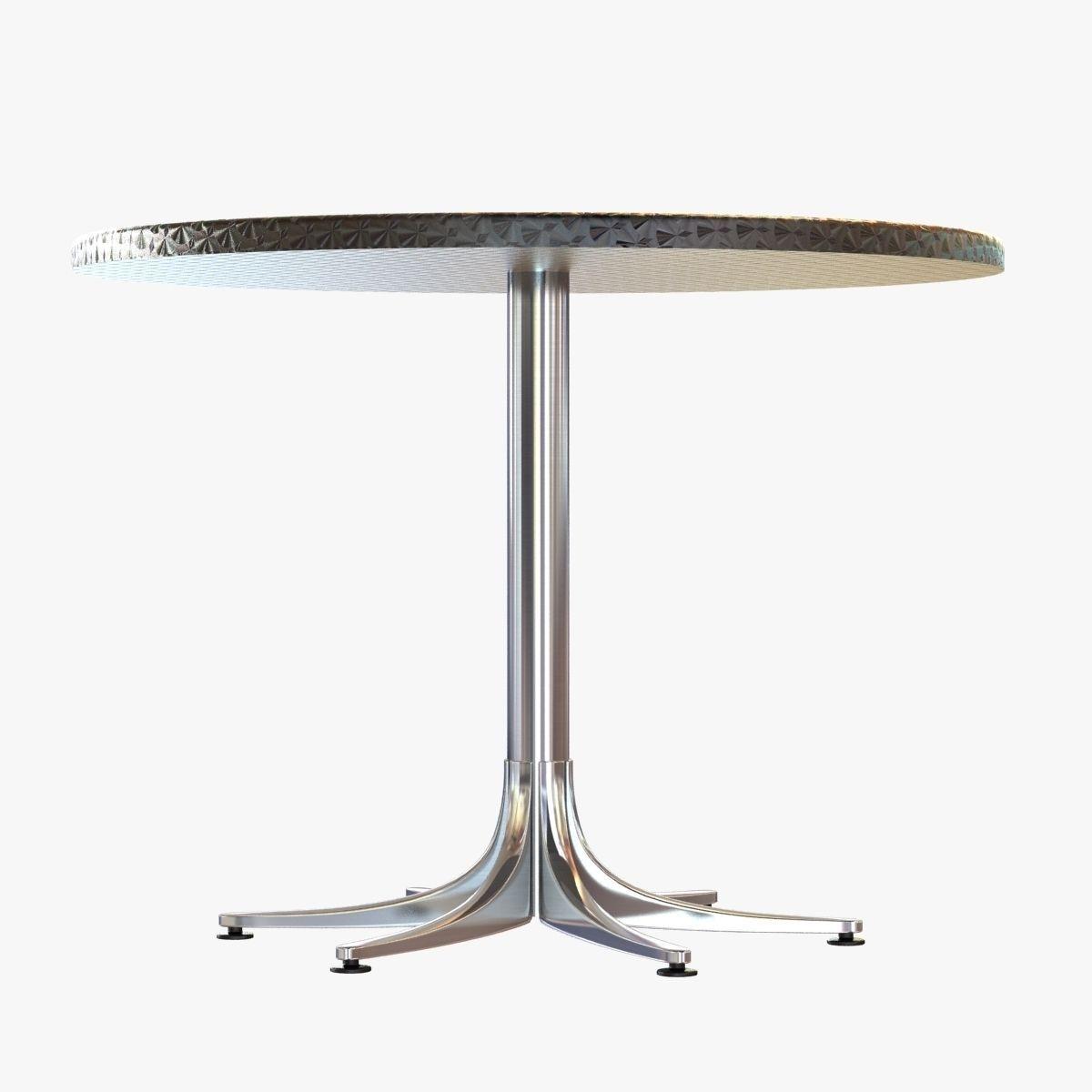 ... Dwr Inox Table Large Round 3d Model Max Obj 3ds Fbx Mtl 2 ...