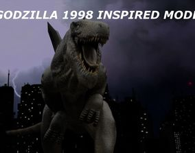 3D asset Godzilla 1998 Inspired Model