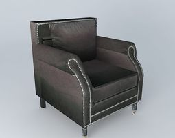 armchair baudelaire anthracite houses the world 3d model