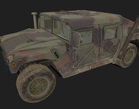 3D model VR / AR ready Humvee