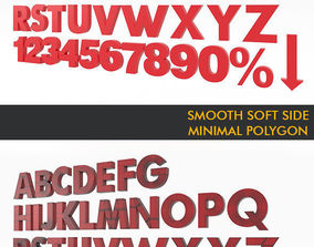 Alphabet Font Futura Md BT Medium 3D Modeling game-ready