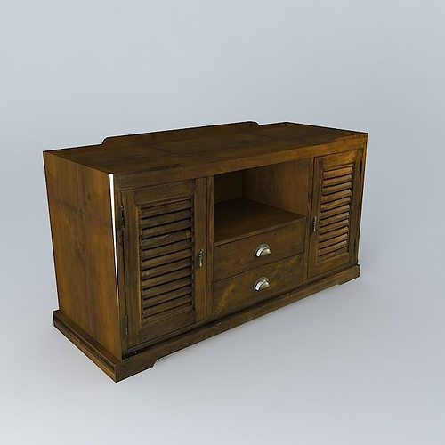 Tv Cabinet Key Largo Maisons Du Monde 3d Model Cgtrader