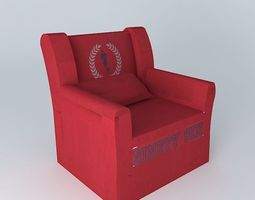 children s armchair red cottage houses the world 3d