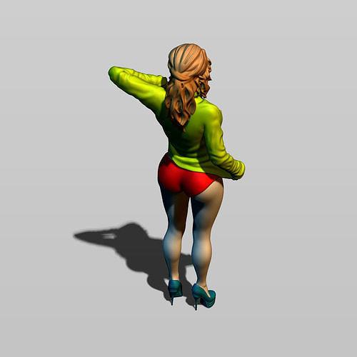 half topless 3d model max obj mtl fbx stl ztl 1