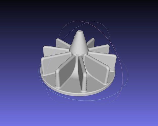 small radial pump impeller magnet driven 3d model obj mtl 3ds dxf stl dae sldprt sldasm slddrw 1