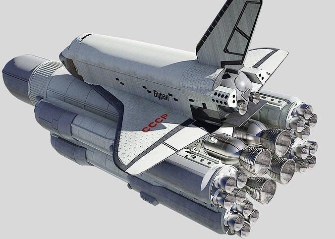 buran space shuttle 3d model obj mtl fbx stl blend 1