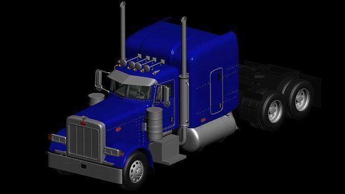 tractor truck 1987 3d model 3d model max obj mtl 3ds fbx c4d lwo lw lws 1