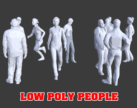10 Low Poly People Posed Collection Pack 8 3D asset