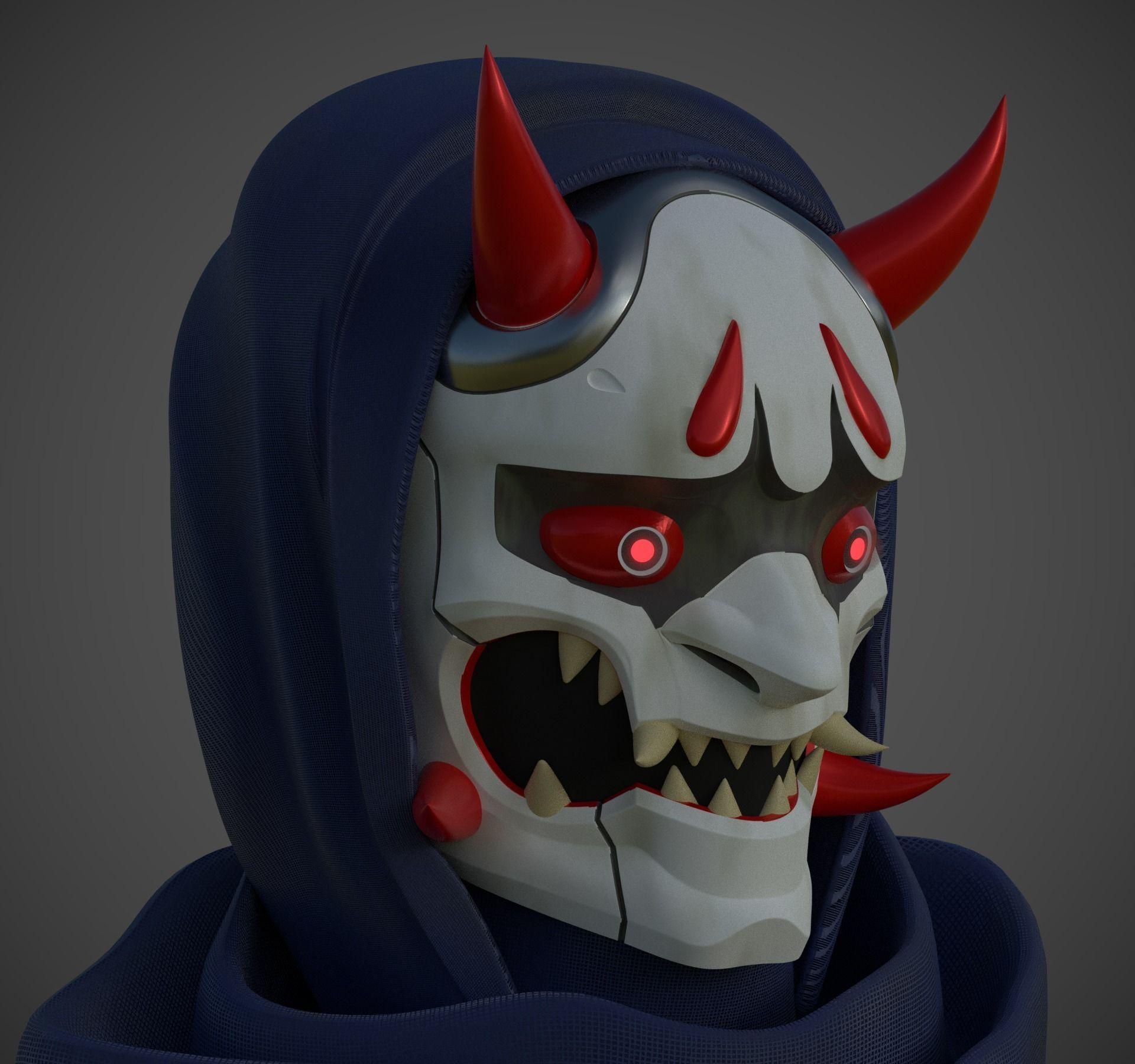 Mask Genji Oni skin from Overwatch