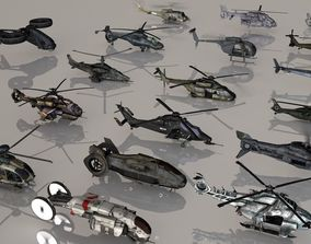 Helicopters Mega Pack 3D model