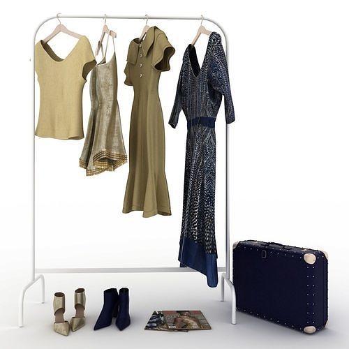 clothes and shoes 3d model max obj mtl fbx dwg 1