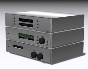Stereo Equalizer CD Player Tuner 3D model
