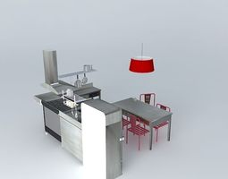 industrial small kitchen houses the world 3d