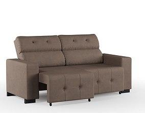 furniture 3D model Brown Sofa