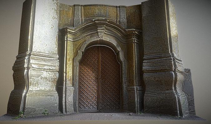 Old rusty church gate scan