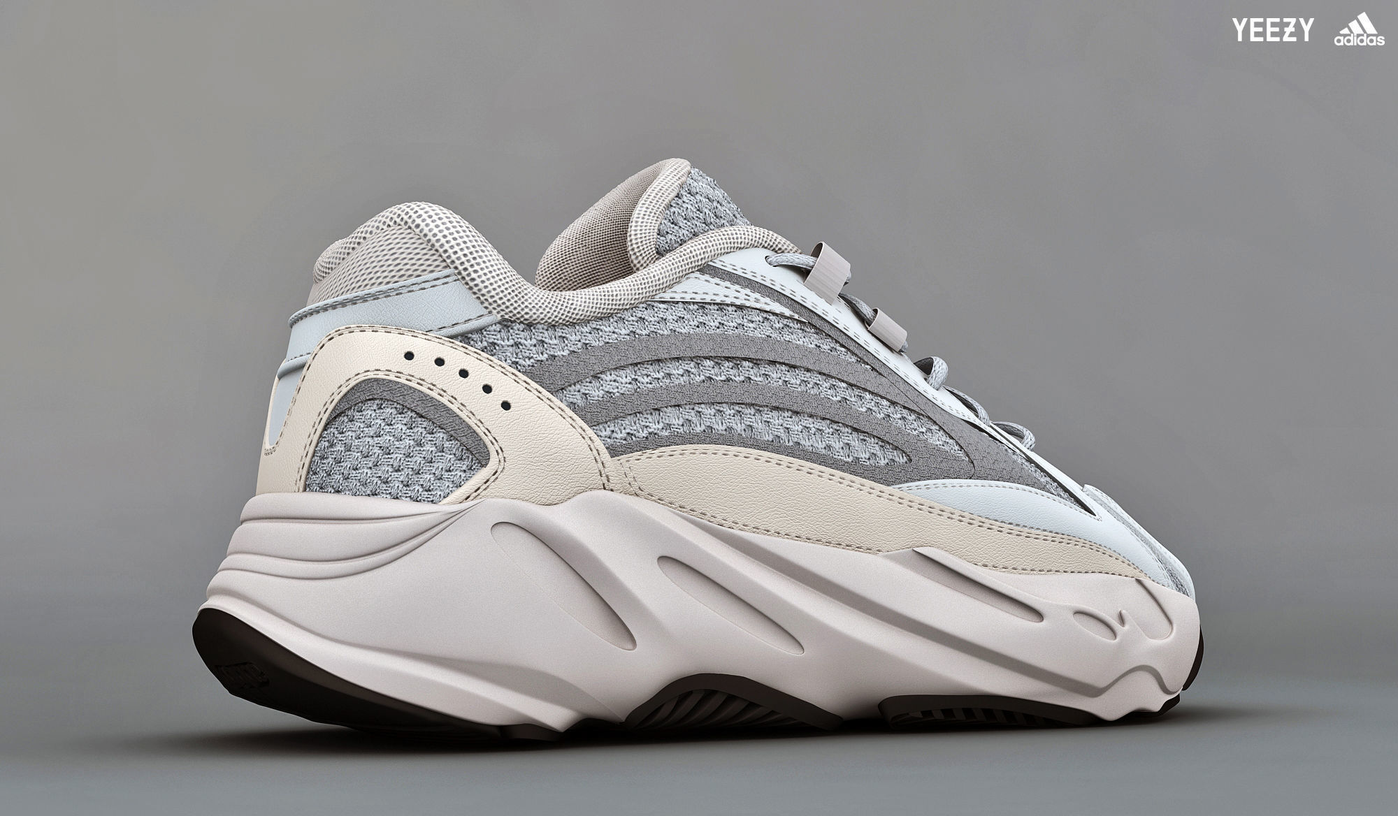 453b6bfb2a0a7c ... adidas yeezy boost 700 v 2 static 3d model low-poly max obj mtl 3 ...