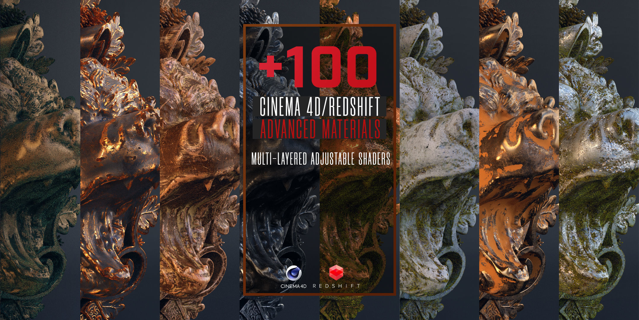 100 C4D Redshift Advanced Materials | Texture