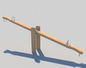 3D Wooden Seesaw