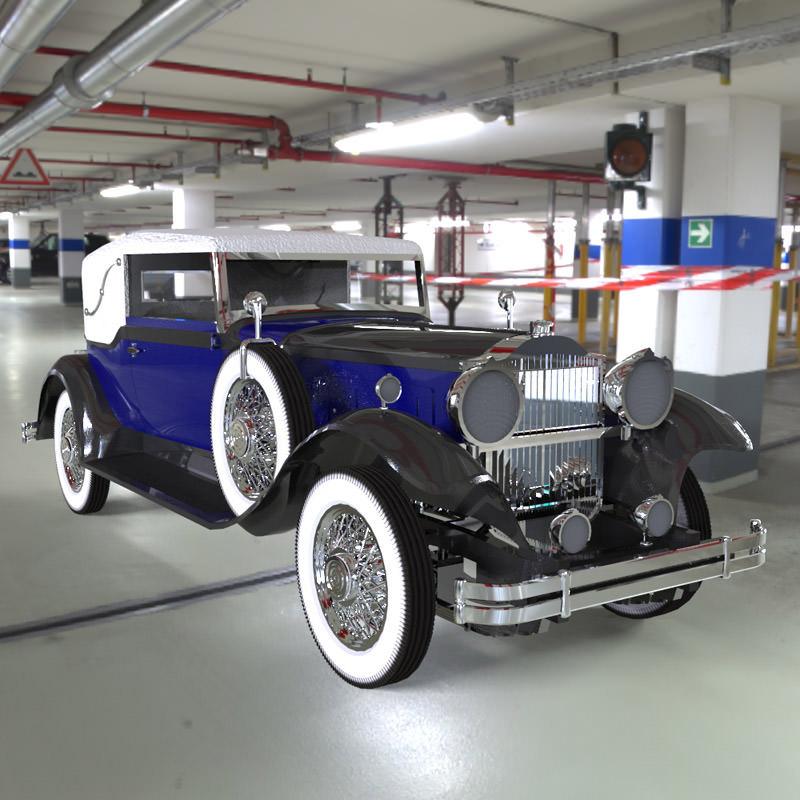 Packard Car 1930 3D   CGTrader