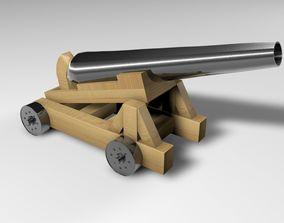3D model ordnance Pirate cannon
