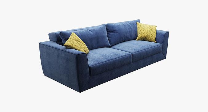 photorealistic sofa 002  3d model max obj mtl fbx 1