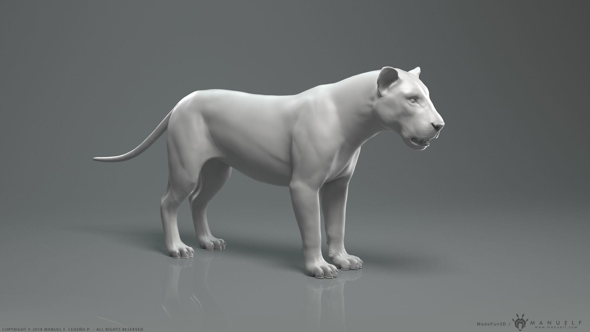Lion - Highpoly Sculpture