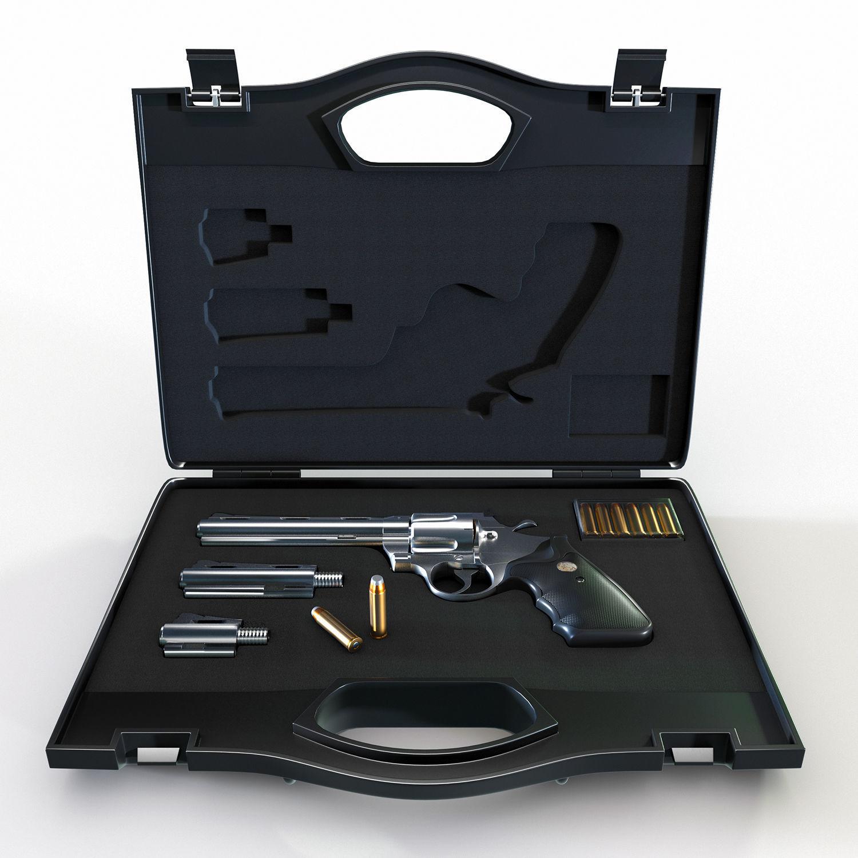 Gun case with a revolver Colt Python 357