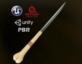 Bone Dagger For Games - 4K PBR 3D asset realtime