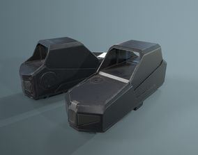 3D model Hartman MH-1 collimator holographic Weapon Sight