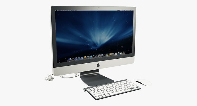 new imac 3d model low-poly max obj mtl fbx 1