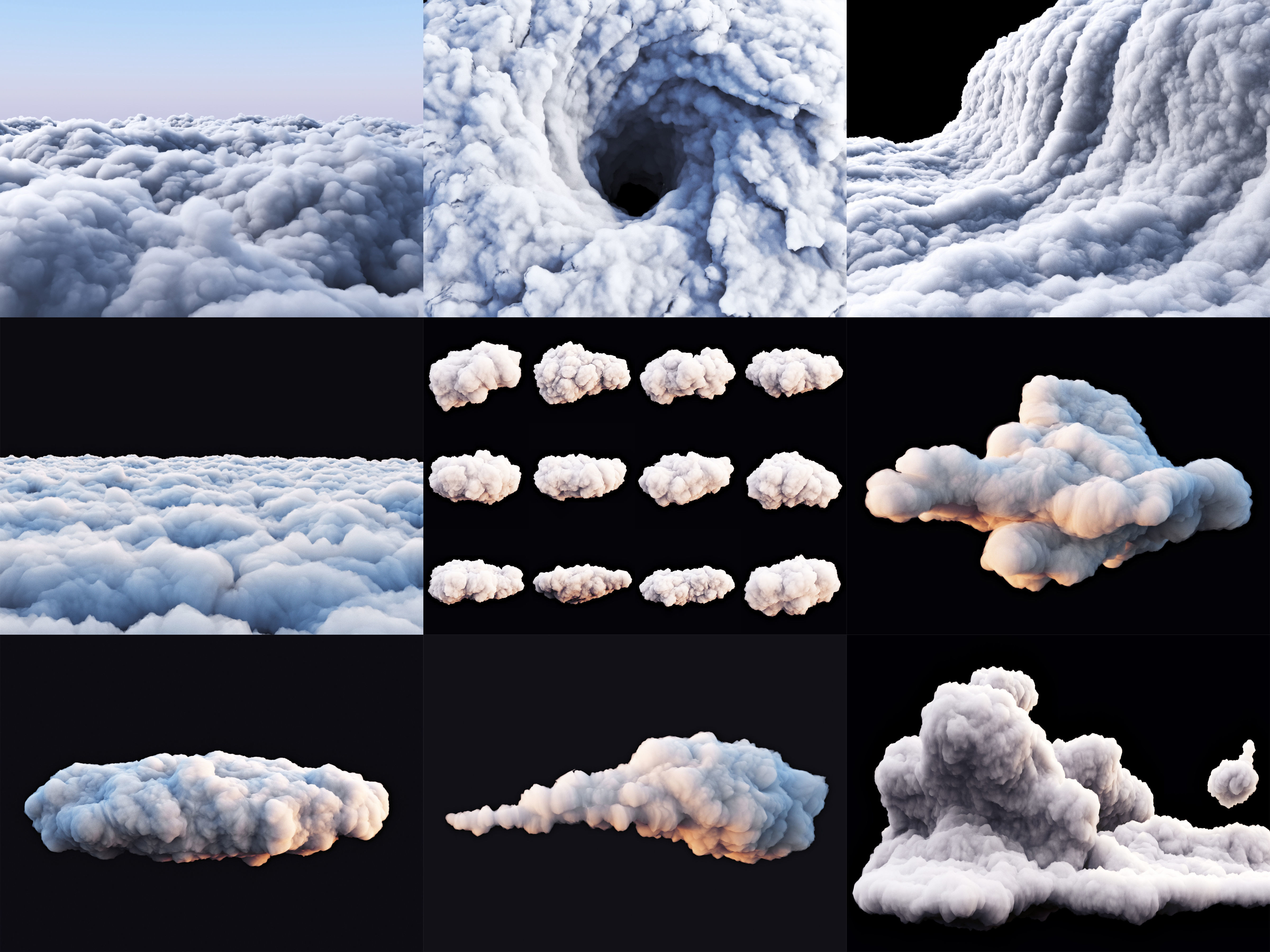 Clouds Pack 3Ds Max