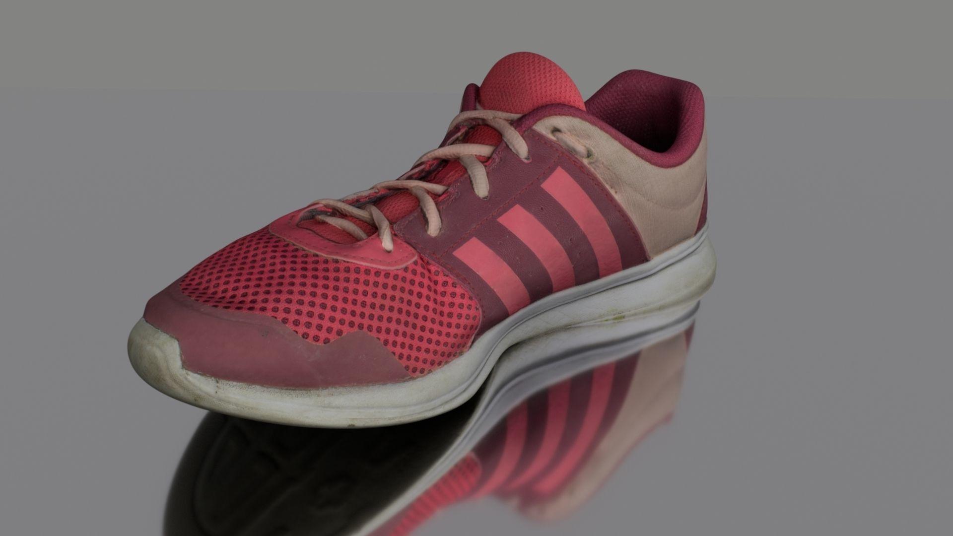Worn sneaker low poly 3D model