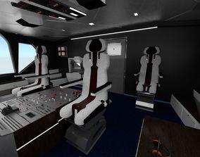 Airplane Airbus Cockpit Interior 3D model