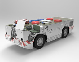US Navy Carrier Fire Tractor 3D model