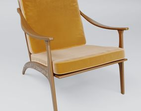 Lean Back Lounge Chair 3D