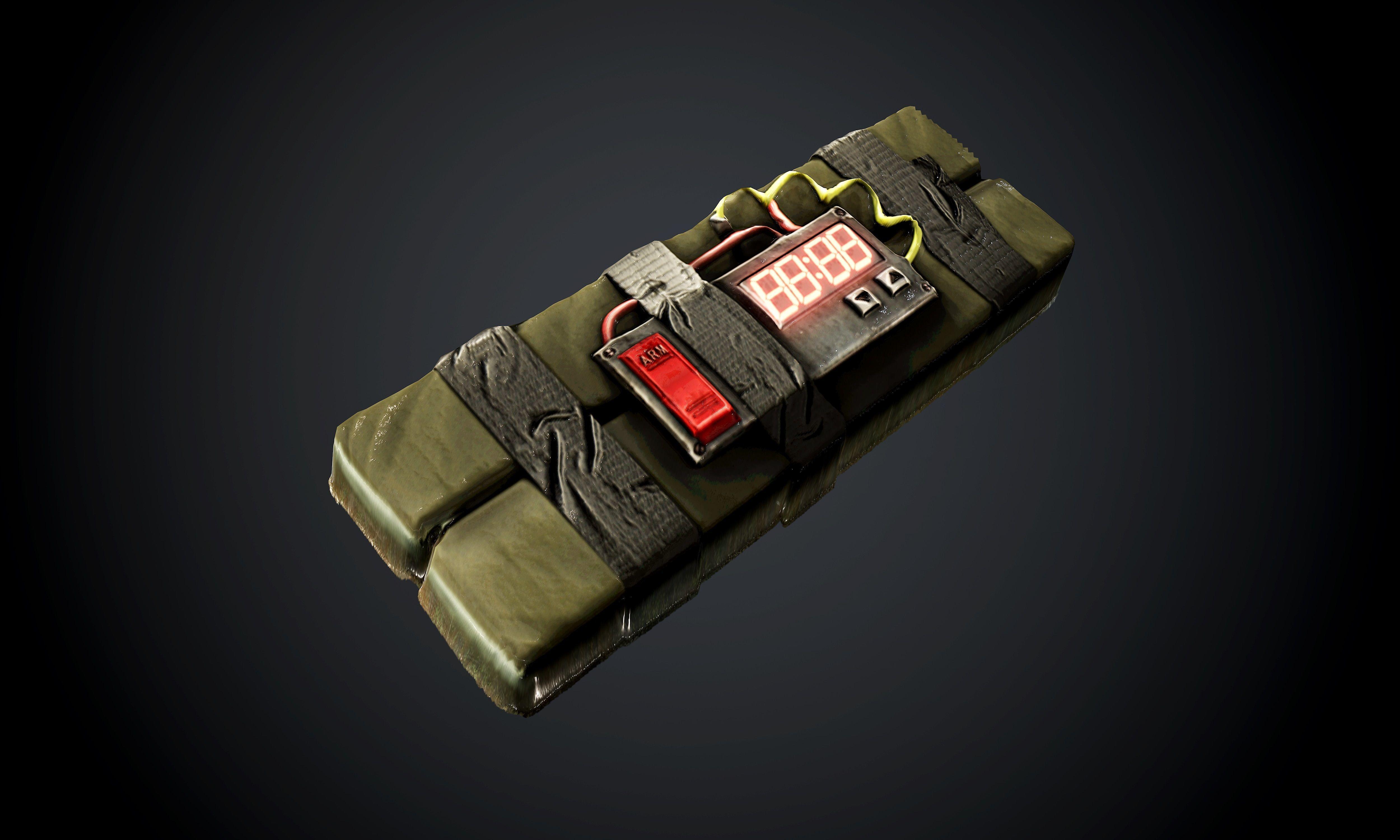 C4 Bomb Seamless PBR Texture