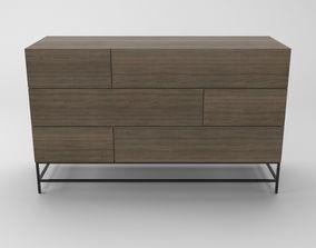 3D model Hutch dresser and bedside table