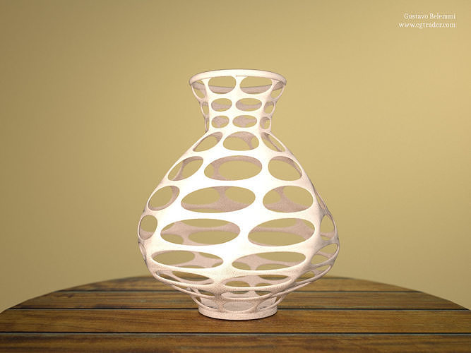 abstract vase thin 3d model obj mtl 3ds fbx stl blend dae 1