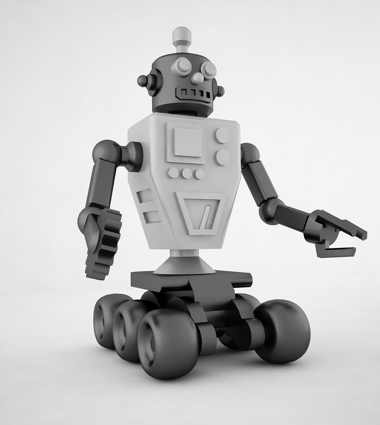 Retro Robot 3d Low Poly Model | 3D model