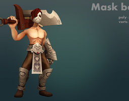 mask boy 3d model game-ready animated