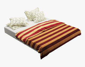 3D model Photorealistic Bed set 004